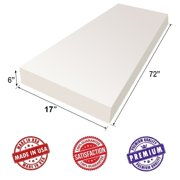 """Upholstery Visco Memory Foam Sheet 3.5 lb Density - Mattress, Good for Sofa Cushion, Luxury Quality, Wheelchair, Doctor Recommended for Backache & Bed Sores by Dream Solutions USA (6""""H x 17""""W x 72""""L)"""