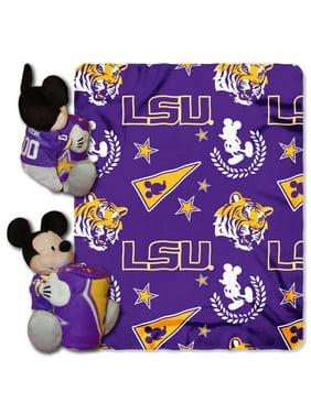 """Disney NCAA LSU Tigers Hugger Pillow and 40"""" x 50"""" Throw Set"""