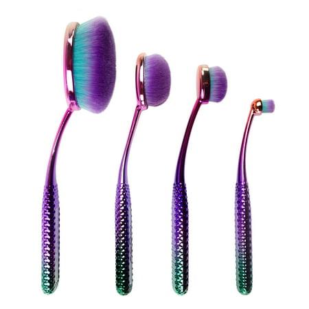 moda prismatic face perfecting makeup blending brushes