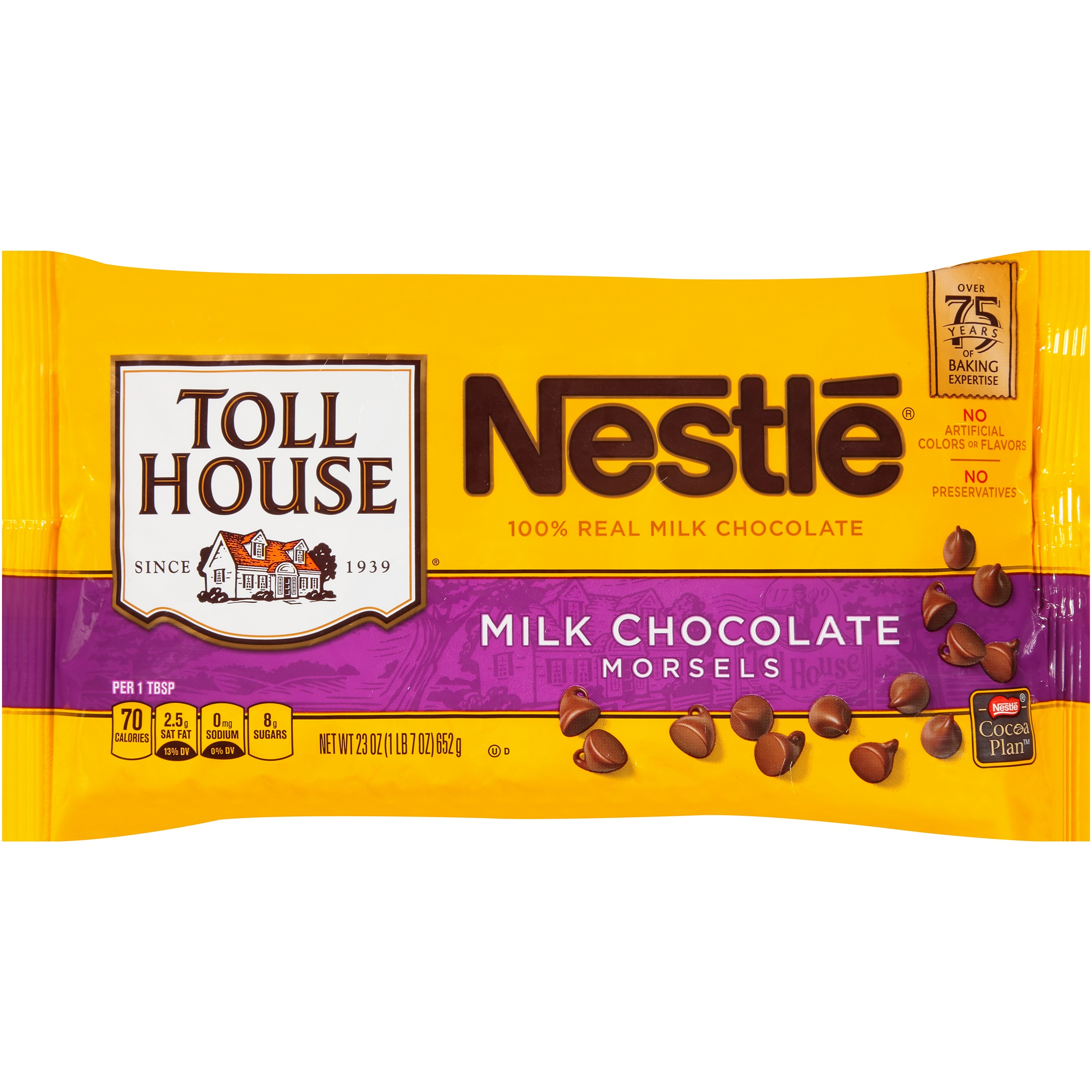 Nestlé TOLL HOUSE Milk Chocolate Morsels 23 oz. Bag