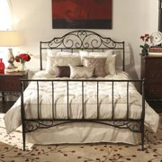 iNSPIRE Q Camelia Graceful Scroll Bronze Iron King-sized Sleigh Bed by  Classic