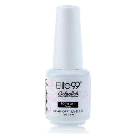 - Elite99 Soak Off UV LED Gel Nail Polish 8ml Top Base Coat Sealer Primer Manicure