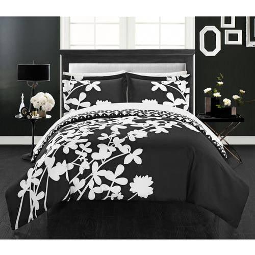 Casa Blanca 3-Piece Bedding Floral Duvet Cover Set, King Blue