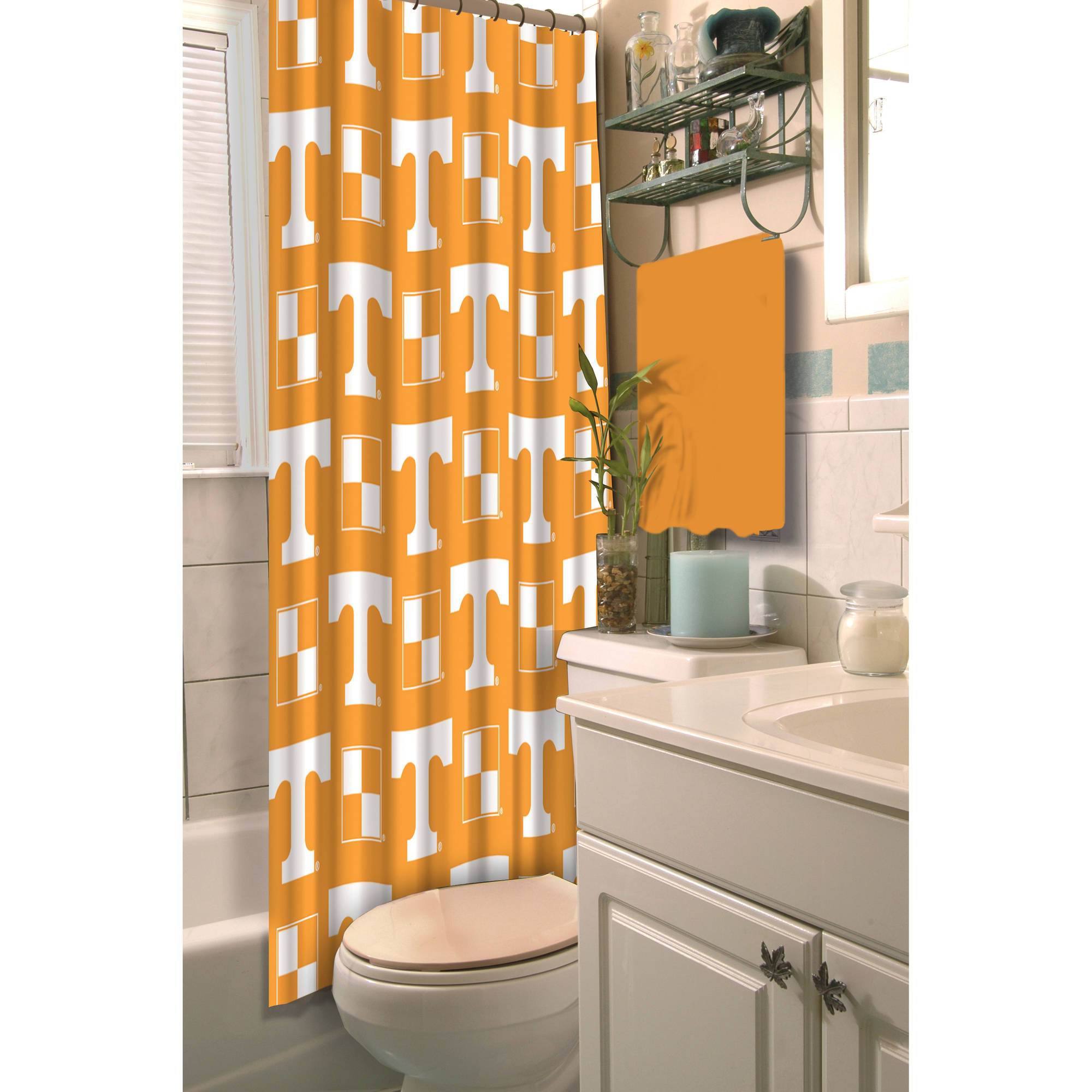 NCAA University of Tennessee Decorative Bath Collection - Shower Curtain