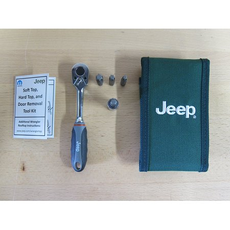 Jeep Wrangler Hard Top & Door Removal Tool Kit, Tool Kit includes T-30, T-35, T-40 and T-50 torx bits, ratchet and storage pouch By Mopar