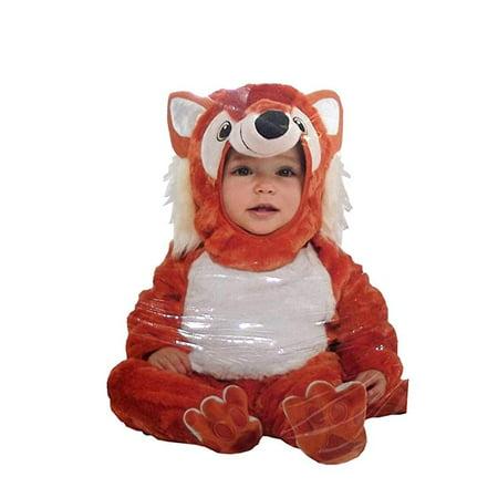 Amscan Furry Fox Plush Infant Costume, 12-24 (70's Leisure Suit Costume)