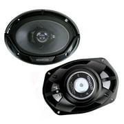 Kenwood KFC-6965S 6x9 3-Way 400W Speakers 45W RMS, Black