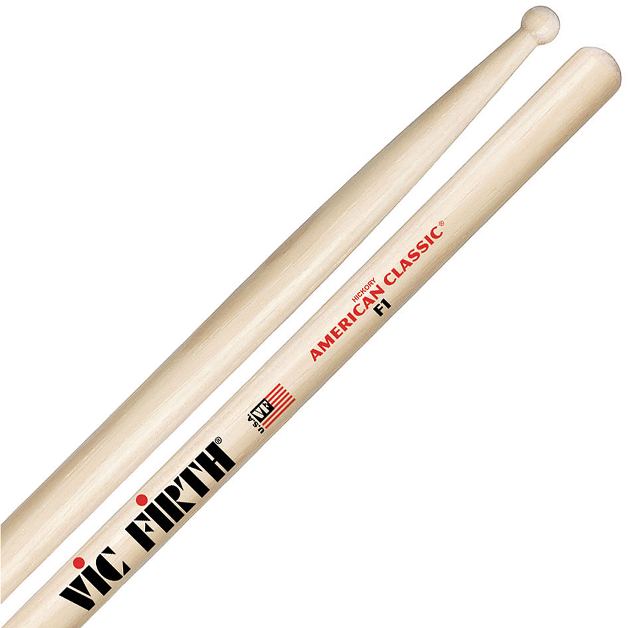 Vic Firth American Classic F1 Wood Tip Hickory Drumsticks