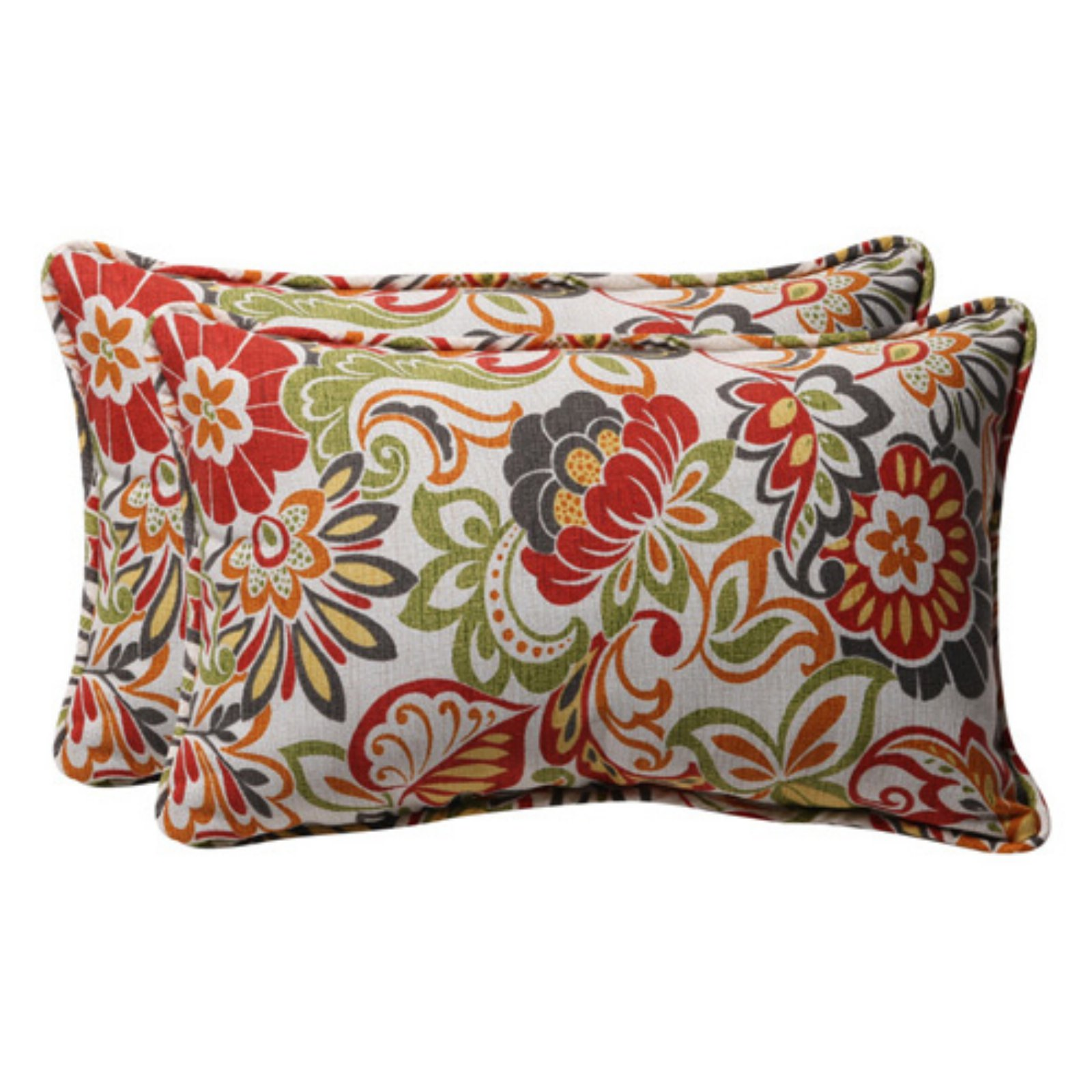 Pillow Perfect Outdoor/ Indoor Zoe Multicolor Rectangle Throw Pillow (Set of 2)