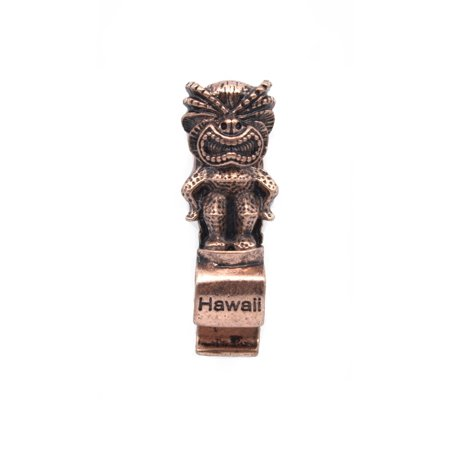Hawaii Stamped Luau Party Tiki Steel Small Magnetic Bottle Opener in Rose