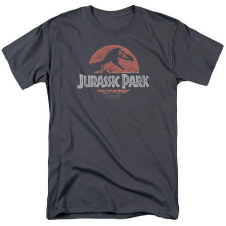 Nickel Grey Apparel - Jurassic Park - Faded Logo Apparel T-Shirt - Grey