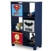DC Comics Justice League 6 Cubby Deluxe Storage Unit (3 Bonus Fabric Bins Included)