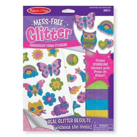 Melissa & Doug Mess-Free Glitter Activity Kit Friendship - 22 Stickers, 5 Glitter Sheets](Girls Glitter)