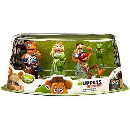 Disney Muppets Most Wanted Movie Exclusive 7-Piece PVC Figurine Playset [Kermit, Miss Piggy, Fozzie, Gonzo, Animal, Walter Constantine] - image 1 of 1