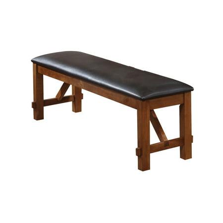 Set Walnut Bench (ACME Apollo Dining Bench, Espresso PU &)