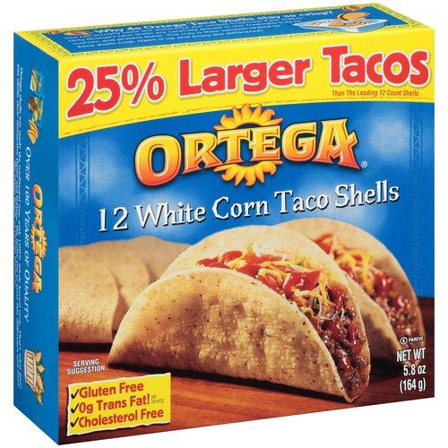 Ortega White Corn Taco Shells, 12 count, 5.8 oz