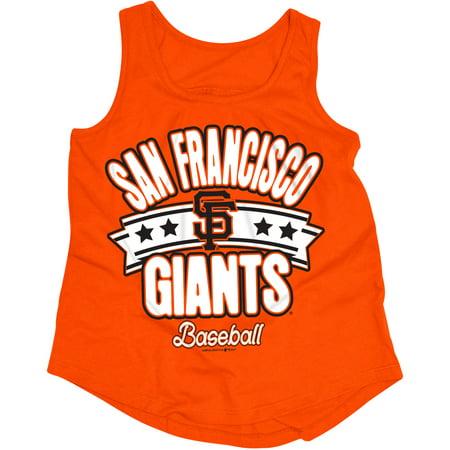 MLB San Francisco Giants Girls Short Sleeve Team Color Graphic Tee - Bootie San Francisco Halloween