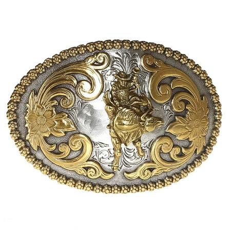 Nocona Belt Co. Womens MF Western Oval Berry Edge Bull Rider Belt Buckle