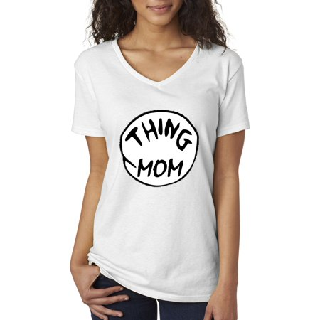 New Way 219 - Women's V-Neck T-Shirt Thing Mom Dr