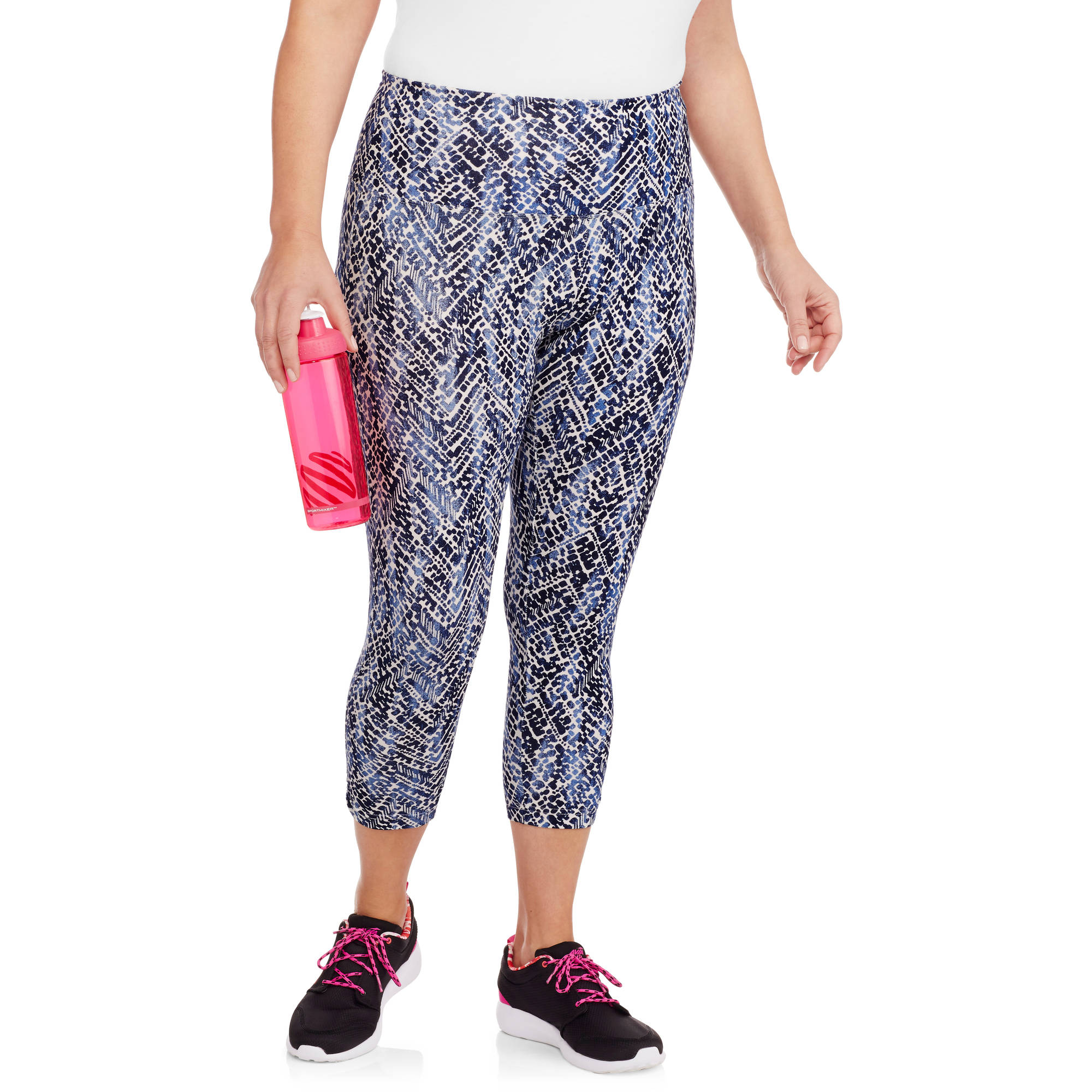 Women's Plus Printed Active Capri Pants