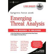 Syngress Force Emerging Threat Analysis (Paperback)