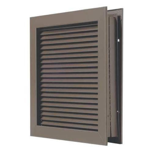 NATIONAL GUARD L-700-RXDKB-14x12 Self Attaching Door Louver,Steel G1615769