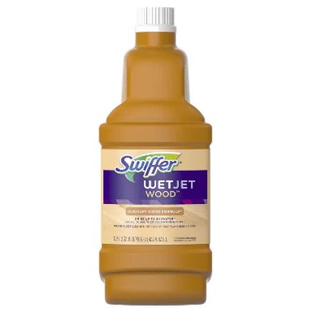 Swiffer Wetjet Wood Floor - Swiffer WetJet Wood Floor Cleaner Solution Refill 42.2 fl oz(pack of 4)