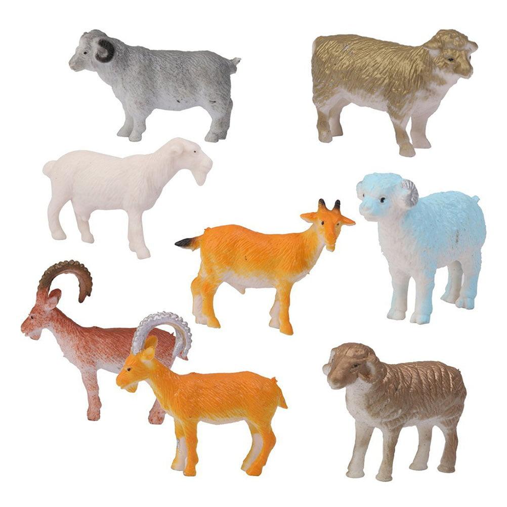 8pcs Model Farm Animal Plastic Sheep Figure Toy by