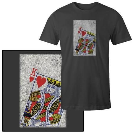 Men's King of Hearts Playing Card T-Shirt