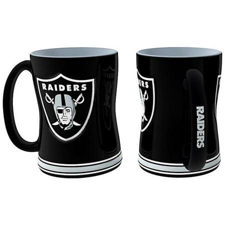 Oakland Raiders Coffee Mug   14Oz Sculpted Relief