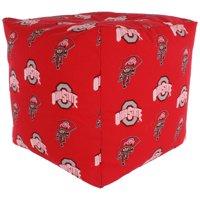 "Bigbolo College Covers Ohio State Buckeyes Cube Cushion 18"" x 18"""