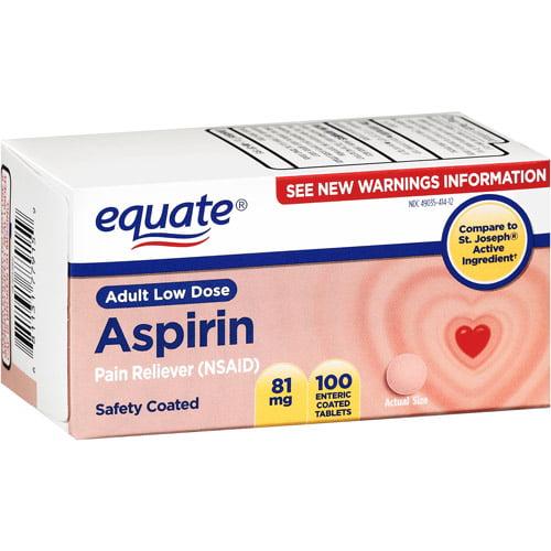 Equate Low Dose Aspirin, 100ct