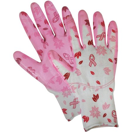 Magid Glove BC314TS Small Breast Cancer Foundation Nitrile-Coated Utility Gloves