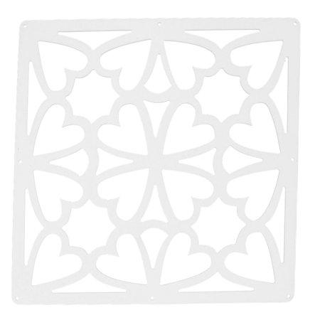 - Living Room Heart Pattern Window Sticker Panel Hanging Screen White 29cm x 29cm
