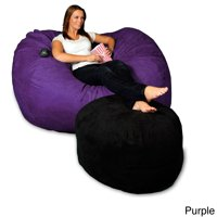 Theater Sacks LLC 5-foot Memory Foam Micro Suede Beanbag Chair Lounger