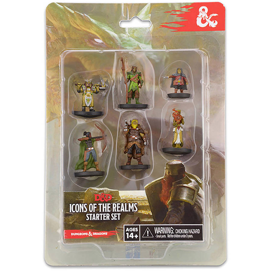 WizKids Dungeons and Dragons Icons of the Realms Figure Set Starter Set