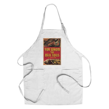 For Whom The Bell Tolls Vintage Poster Usa C  1943  Cotton Polyester Chefs Apron