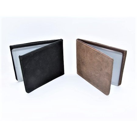 Set of 2 24  Multi Slot Credit Card Wallet In Brown &