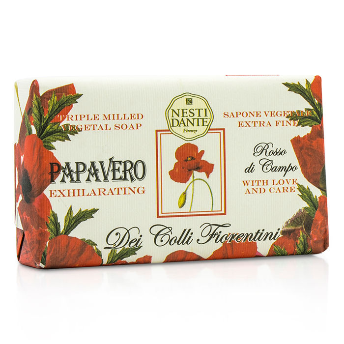 Nesti Dante - Dei Colli Fiorentini Triple Milled Vegetal Soap - Poppy - 250g/8.8oz