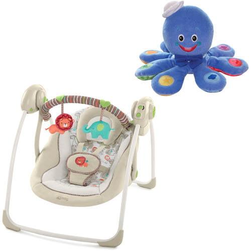 Comfort & Harmony?Portable Swing - Cozy Kingdom? with BONUS Octoplush Toy
