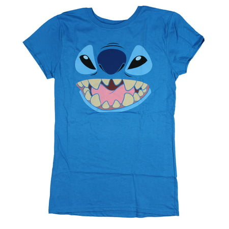Disney Lilo And Stitch Juniors Stitch Face Character Graphic Licensed T-Shirt](Disney Jr Halloween Cartoons)
