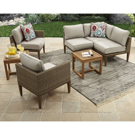 Davenport 7-Piece Woven Outdoor Sectional Set, Box 2 of 2