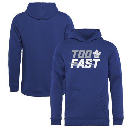 Toronto Maple Leafs Fanatics Branded Youth Too Fast Pullover Hoodie - Blue Toronto Maple Leafs Pullover