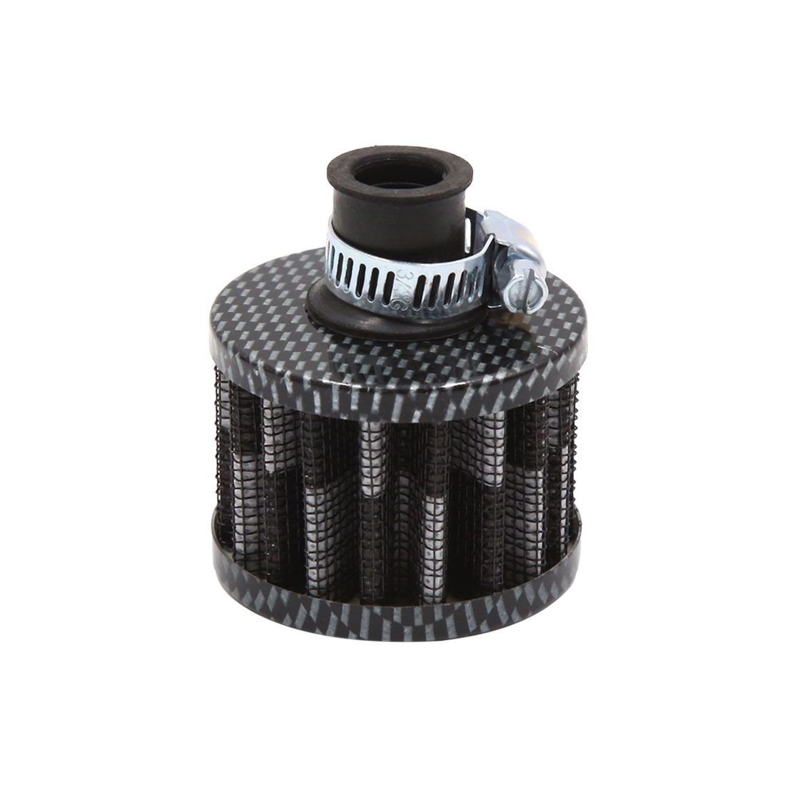 12mm Universal Cylinder Carbon Fiber Pattern Car Cold Air Intake Filter Cleaner