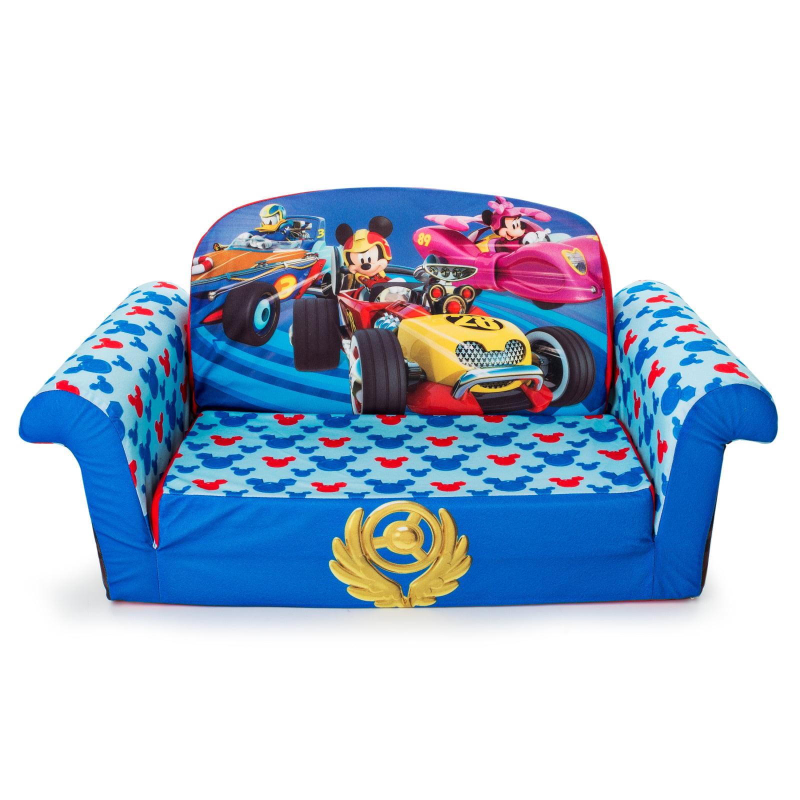Spin Master Disney Mickey Mouse Roadsters Flip Open Foam Sofa Marshmallow Furniture