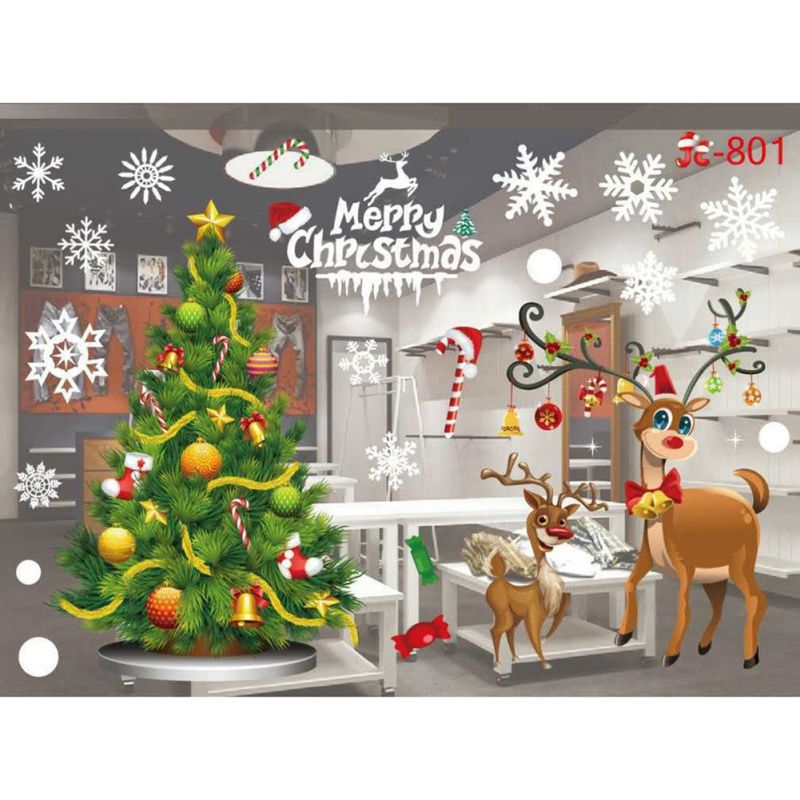 ENJOY Christmas Snowflake Frozen Decals Window Wall Stickers Vinyl Art Xmas Decors