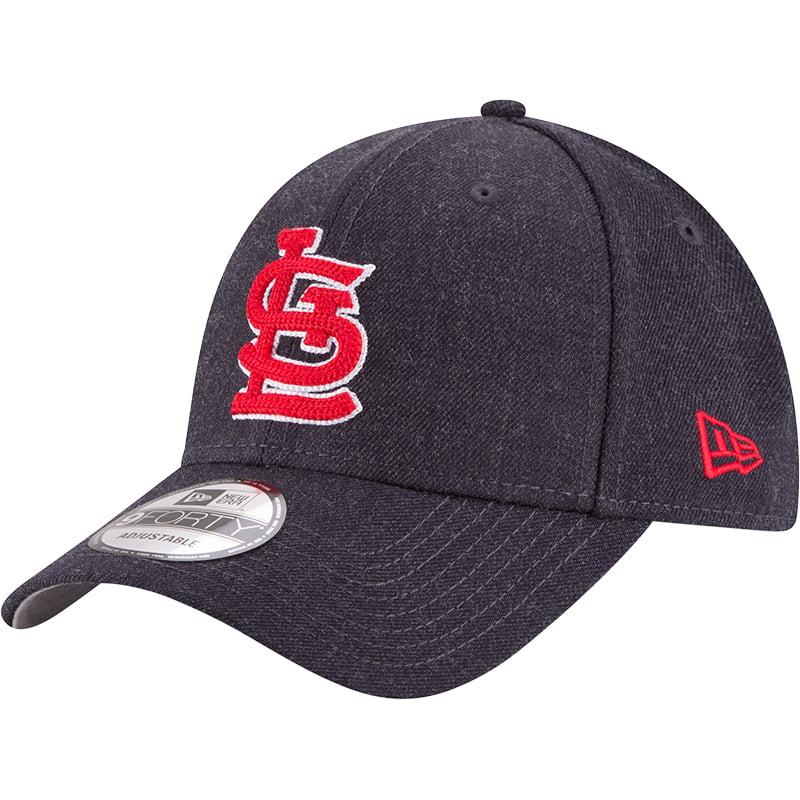 St. Louis Cardinals New Era Crisp 9FORTY Adjustable Snapback Hat - Heathered Black - OSFA
