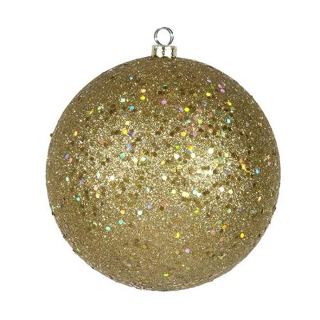Golf Ball Ornaments (Vegas Gold Shatterproof Holographic Glitter Christmas Ball Ornament 8