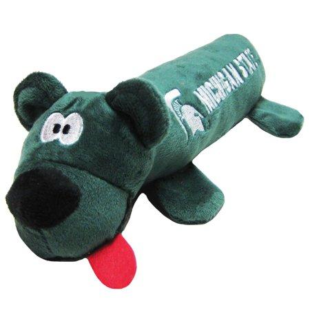 Michigan State University Bear Tube Dog Toy