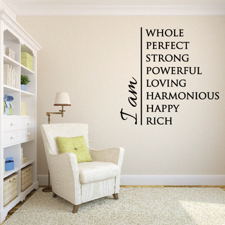 I Am Whole Perfect Strong Powerful Loving Harmonious Happy Rick Wall D